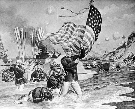 Image result for etching spanish american war