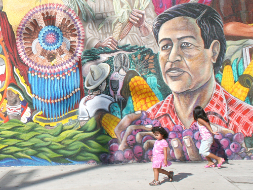 United for Cesar chavez mural