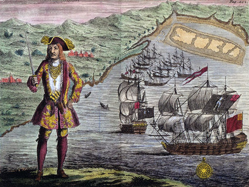 General_History_of_the_Robberies_and_Murders_of_the_Most_Notorious_Pyrates_-_Captain_Bartholomew_Roberts_with_two_Ships