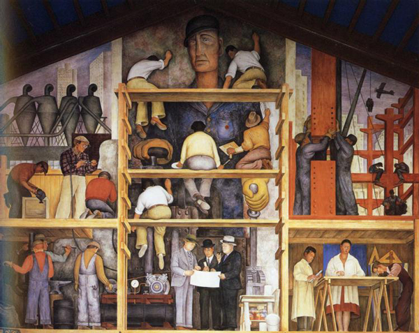 the-making-of-a-fresco-showing-the-building-of-a-city-1931