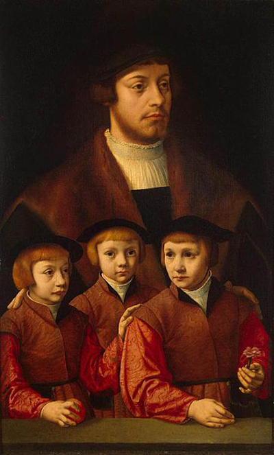 Bartholomaus_Bruyn_(I)_-_Portrait_of_a_Man_with_Three_Sons