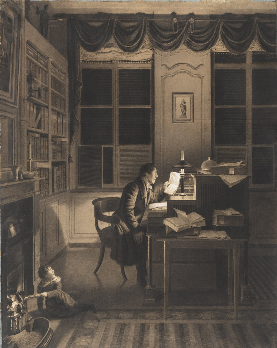 A._L._Leroy_-_Interior_with_a_Man_Reading_at_His_Desk.jgp