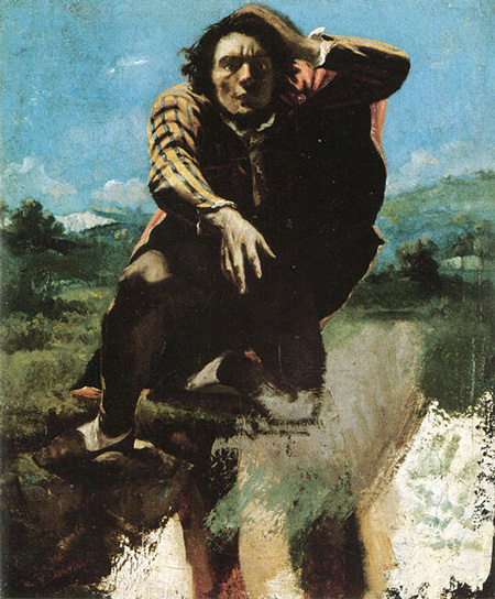 The_Man_Made_Mad_with_Fear_by_Gustave_Courbet