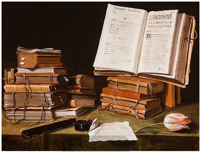 Charles_Emmanuel_Biset_-_Still_life_with_Books,_a_Letter_and_a_Tulip
