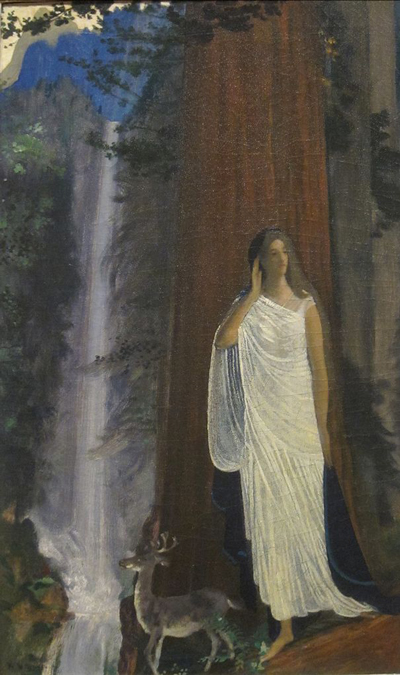 606px-'Silence,_Waterfall_and_Forest'_by_Arthur_Bowen_Davies,_Dayton_Art_Institute