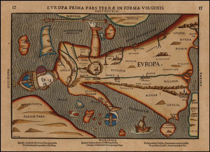 Historical-Map_Europa-Prima-Pars_Terrae-in-Forma-Virginis_C.P.1548_standing
