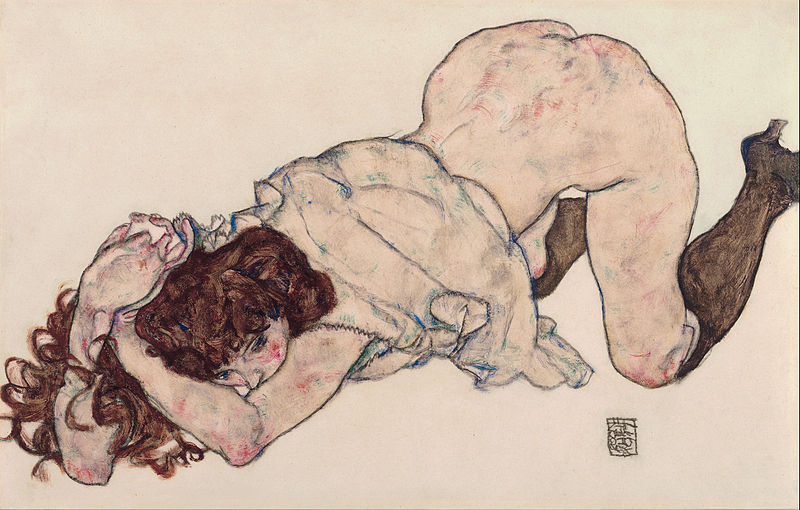 800px-Egon_Schiele_-_Kneeling_Girl_Resting_on_Both_Elbows_-_Google_Art_Project