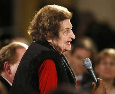 Helen Thomas talks Israel and Palestine