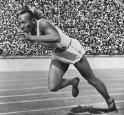 Jesse Owens Wins Men's 100m Final, 1936